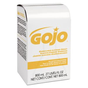 Gojo Soap Bag-in-Box Dispenser Refill, Lightly Scented, 12/Box (GOJ910212CT)