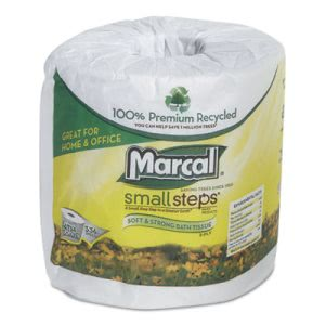 Marcal Small Steps 100% Recycled Two-Ply Bathroom Tissue, 48 Rolls (MRC6073)