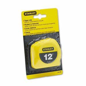 Stanley Bostitch Power Return 12' Tape Measure w/Belt Clip, Yellow (BOS30485)
