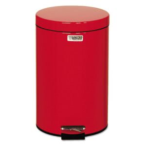 Rubbermaid Defenders 3.5 Gallon Medical Step-On Trash Can, Red (RCPST35EPLRD)