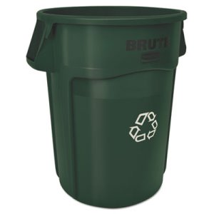 Rubbermaid Commercial Brute Recycling Container, Round, 44 gal, Dark Green (RCP1926829)