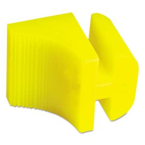 Boardwalk Silicone Door Stop, 3 x 1/4, Neon Yellow (BWKSDSBWNY)