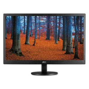 "Aoc TFT Active Matrix LED Monitor, Slim Design, 24"" (AOCE2460SD)"