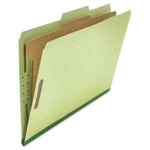 Universal Pressboard Classification Folder, 4-Section, Green, 10/Box (UNV10261)