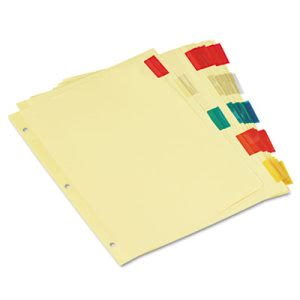 Universal Insertable Index, Multicolor Tabs, 5-Tab, Letter, 6 Sets (UNV21870)