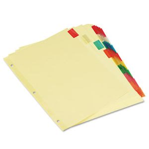 Universal Economical Insertable Index, Multicolor, 8-Tab, Ltr, 6 Sets (UNV21872)