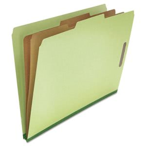 Pressboard Classification Folder, Legal, Six-Section, Green, 10/Box (UNV10281)