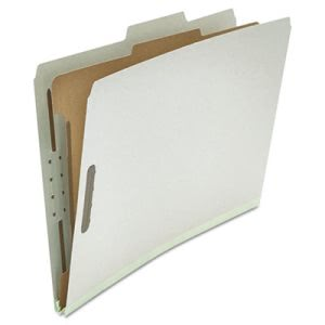 Universal Pressboard Folder, Legal, 4 Section, Gray, 10 per Box (UNV10262)