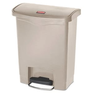 Rubbermaid 1883456 Slim Jim 8 Gallon Step-On Trash Can, Beige (RCP1883456)
