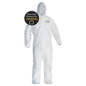 Kleenguard A40 Liquid & Particle Protection Coveralls, White, X-Large (KCC41172)