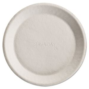 "Chinet Savaday Molded Fiber Plates, 10"", White, Round, 500 Plates  (HUH10117)"