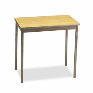Barricks Utility Table, Rectangular, 30w x 18d x 30h, Oak (BRKUT183030LQ)