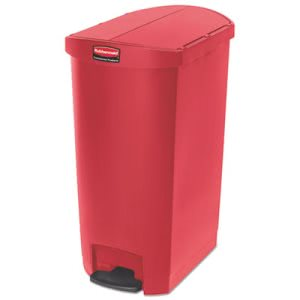 Rubbermaid 1883569 Slim Jim 18 Gallon Step-On Trash Can, Red (RCP1883569)