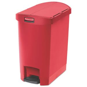 Rubbermaid 1883565 Slim Jim 8 Gallon Step-On Trash Can, Red (RCP1883565)