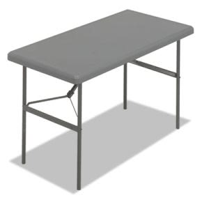Iceberg 1200 Series Resin Folding Table, 48w x 24d x 29h, Charcoal (ICE65207)