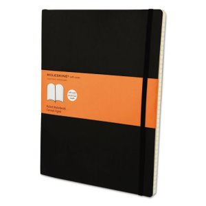 Moleskine Classic Softcover Notebook, 8 1/2 x 11, Ruled, Black (HBGMSX14)