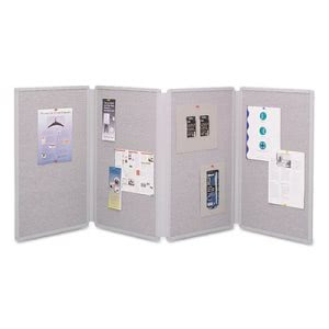 Quartet Tabletop Display Presentation Board, Fabric, 72 x 30, Gray (QRT773630)