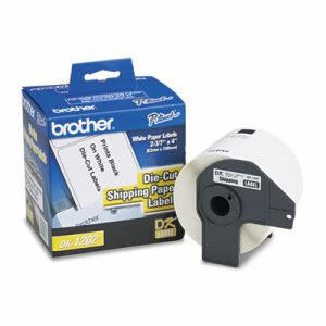 "Brother Die-Cut Shipping Labels, 2.4"" x 3.9"", White, 300/Roll (BRTDK1202)"