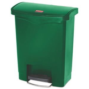 Rubbermaid 1883582 Slim Jim 8 Gallon Step-On Trash Can, Green (RCP1883582)