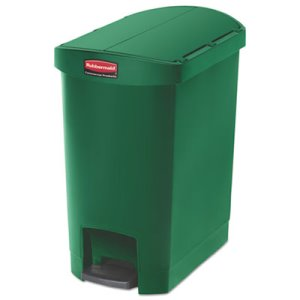 Rubbermaid 1883583 Slim Jim 8 Gallon Step-On Container, Green (RCP1883583)