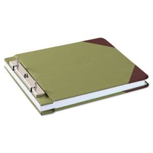 Wilson Jones Canvas Post Binder, 11 x 8-1/2, 4-1/4 Center, Green (WLJ27827)