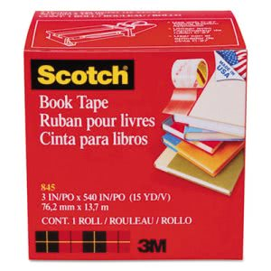 "Scotch Book Repair Tape, 3"" x 15 yards, 3"" Core (MMM8453)"
