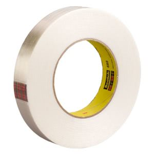 "Scotch High-Strength Filament Tape, .70"" x 60 yards, 3"" Core, Clear (MMM89834)"