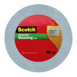 "Scotch Double-Coated Foam Tape, 1/2"" x 36 yards, White (MMM401612)"