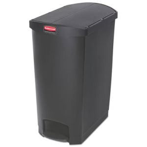 Rubbermaid 1883616 Slim Jim 24 Gallon Step-On Trash Can, Black (RCP1883616)