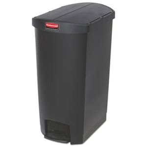 Rubbermaid 1883614 Slim Jim 18 Gallon Step-On Trash Can, Black (RCP1883614)