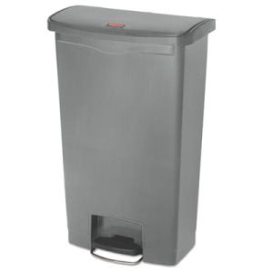 Rubbermaid 1883604 Slim Jim 18 Gallon Step-On Trash Can, Gray (RCP1883604)
