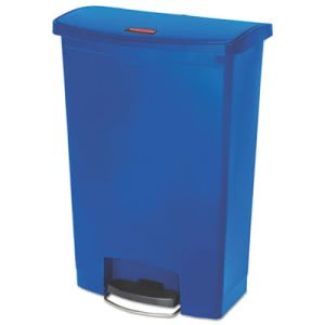 Rubbermaid 1883597 Slim Jim 24 Gallon Front Step-On Trash Can, Blue (RCP1883597)