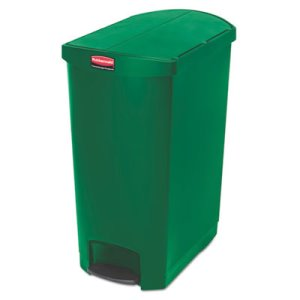 Rubbermaid 1883589 Slim Jim 24 Gallon Step-On Container, Green (RCP1883589)