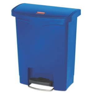 Rubbermaid 1883591 Slim Jim 8 Gallon Step-On Trash Can, Blue (RCP1883591)