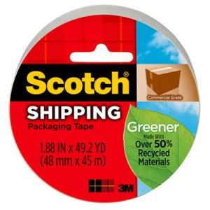 "Scotch Greener Grade Packaging Tape, 1.88"" x 49.2 yd, 3"" Core (MMM3750G)"