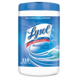 Lysol Disinfecting Wipes, Ocean Fresh Scent, 6 Canister (RAC93010CT)