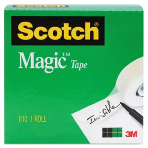 "Scotch Magic Tape, 3/4"" x 1000"", 1"" Core, Clear (MMM8101K)"