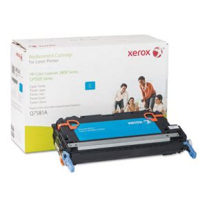 Xerox 6R1343 Compatible Remanufactured Toner, 4000 Page-Yield, Cyan (XER6R1343)