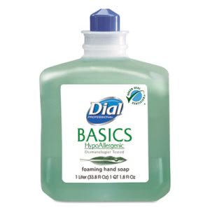 Dial Basics HypoAllergenic Foam Lotion Soap, 6 Refills (DIA06060CT)