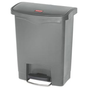 Rubbermaid 1883600 Slim Jim 8 Gallon Step-On Trash Can, Gray (RCP1883600)