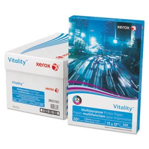 "Xerox Copy Paper, 20 lb, 11"" x 17"", White, 500 Sheets (XER3R03761)"