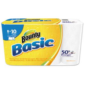 Bounty Basic 92979 Select-a-Size Kitchen Paper Towel Rolls, 8 Rolls (PGC92979)
