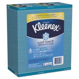 Kleenex Cool Touch Facial Tissues, 2-Ply, White, 12 Boxes (KCC30960)