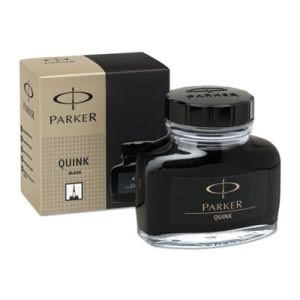 Parker Quink Permanent Ink for Parker Pens, 2 oz Bottle, Black (PARS0037460)