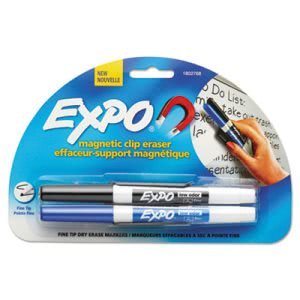 Expo Magnetic Clip Whiteboard Eraser w/Marker Holder & 2 Markers (SAN1802768)