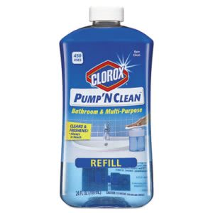Clorox Pump 'N Clean Bathroom Cleaner, Rain Scent, 24-oz. Refill (CLO31253EA)