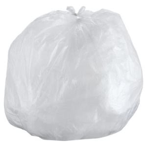 Inteplast 55 Gallon Clear Trash Bags, 43x48, 14 mic, 200 Bags (IBSS434814N)
