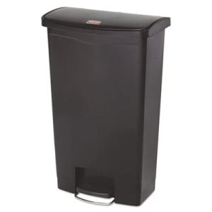 Rubbermaid 1883613 Slim Jim 18 Gallon Step-On Trash Can, Black (RCP1883613)