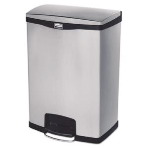 Rubbermaid 1901999 Slim Jim 24 Gallon Step-On Trash Can, Black (RCP1901999)