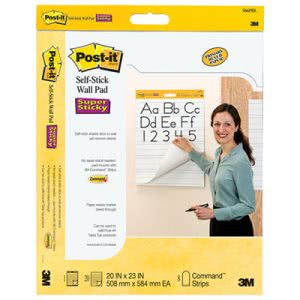 Post-it Self-Stick Ruled Easel Pads, 25 x 30, 20 Sheets/Pad (MMM566PRL)